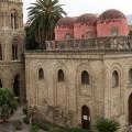 Piazza Bellini - Chiesa di San Cataldo e  campanile Chiesa della Martorana - Foto archivio A.Gaetani