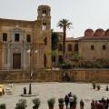 Piazza Bellini - Chiesa  di Santa Maria dell'Ammiraglio detta anche della Martorana e Chiesa di San Cataldo - Foto archivio A.Gaetani