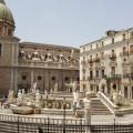 Piazza Pretoria - La monumentale fontana - Foto archivio A.Gaetani
